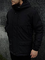 Куртка мужская демисезонная осенняя весенняя утепленная черная Intruder WaterProof
