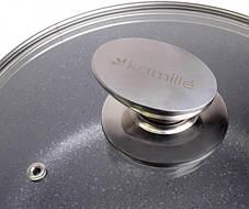 Чудо-кастрюля с антипригарным гранитным покрытием 2.3 л для всех типов плит Kamille, фото 3