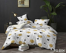 1,5-Спальный комплект постельного белья Полисатин 3D PS-B04