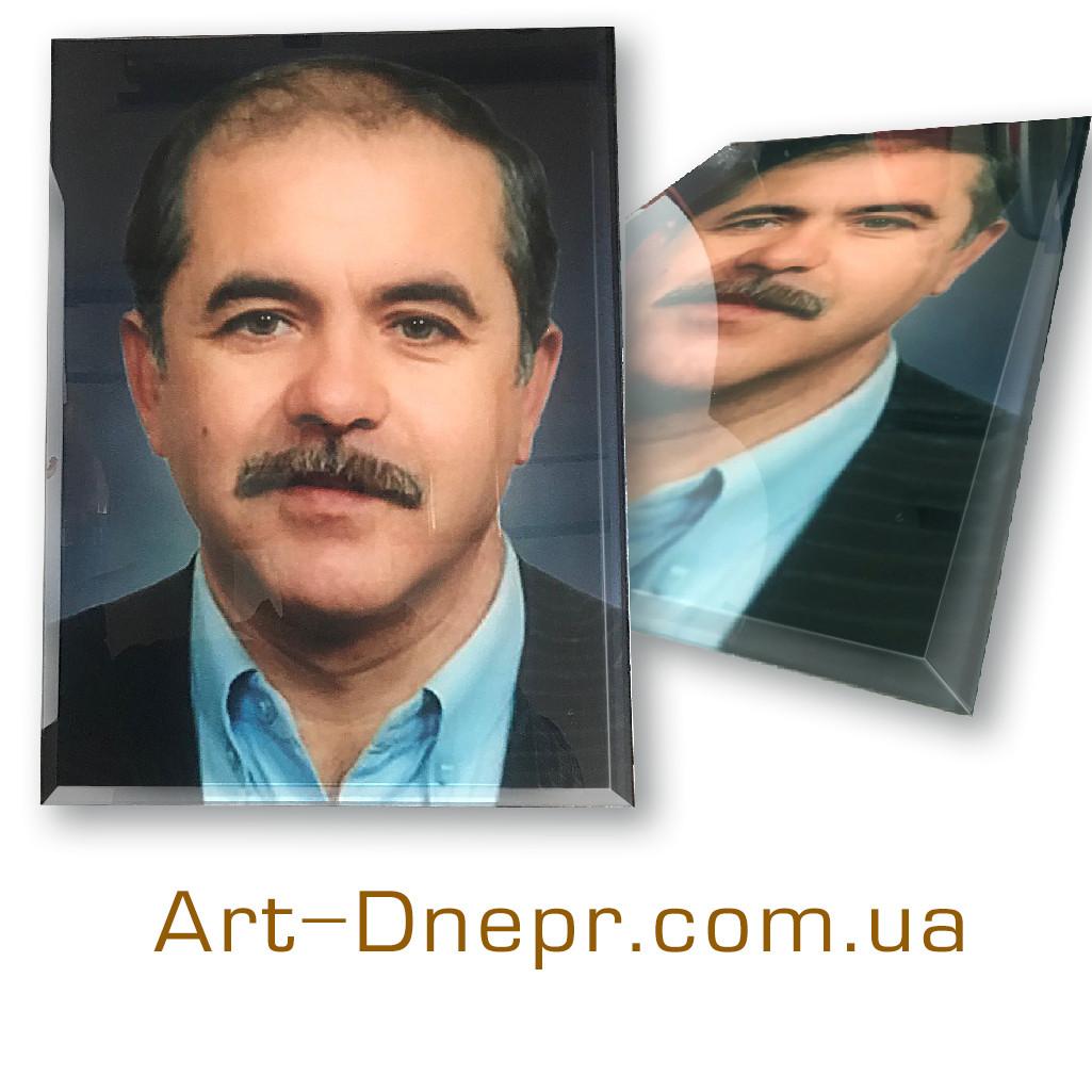Портрет в стекле на памятник 300*400 мм