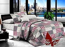 1,5-Спальный комплект постельного белья Поплин с компаньоном TM-5002Z