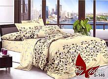 2-Спальный комлект постельного белья Сатин Люкс с компаньоном S-146