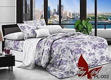 2-Спальный комплект постельного белья Поплин с компаньоном PL002