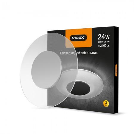 Світильник LED 24W 4100K 2400Lm круглий акриловий 296654 VIDEX