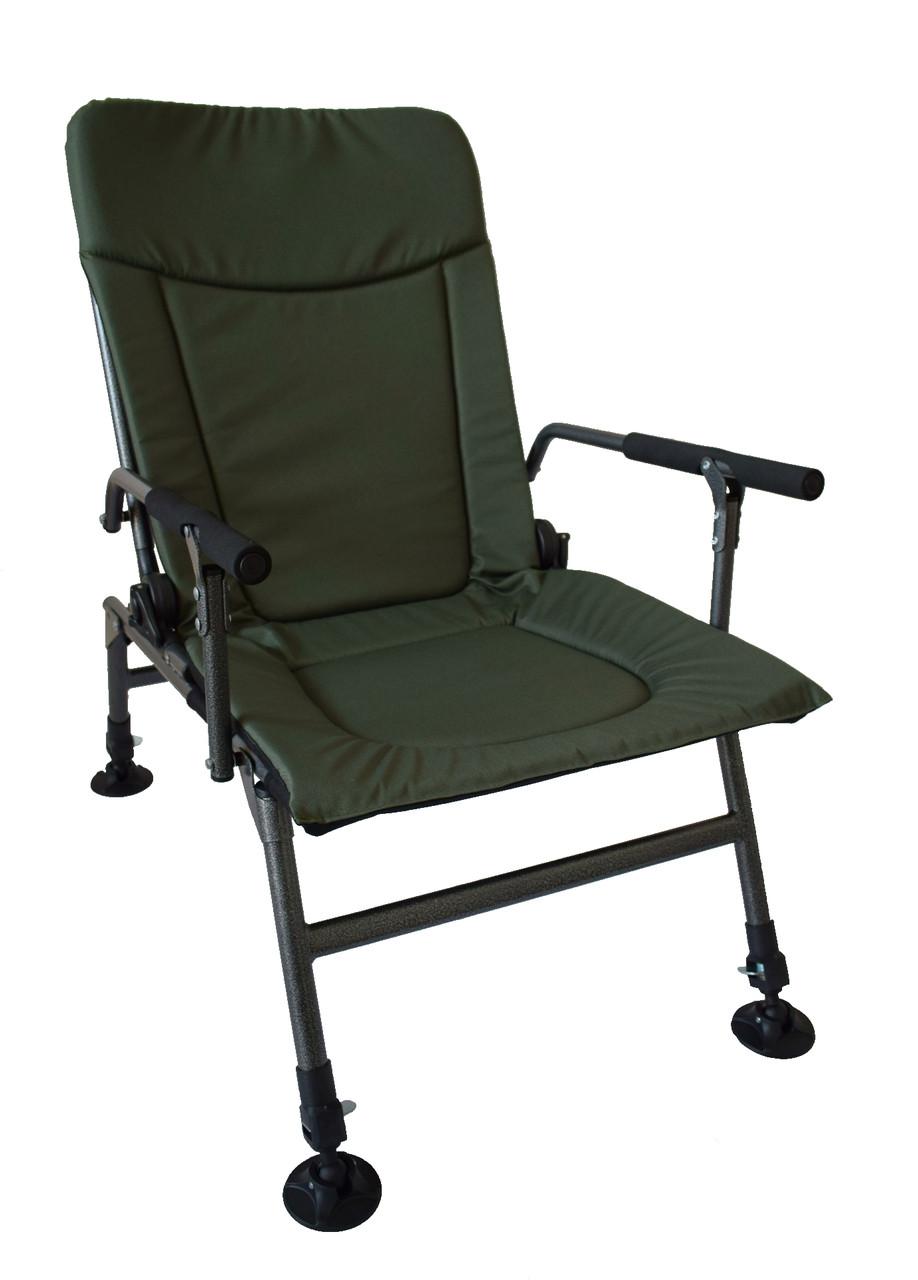 Кресло для рыбалки карповое с регулируемыми ножками Vario Carp