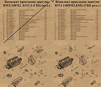 К/т прокладок ЯМЗ-240 (раздельная)