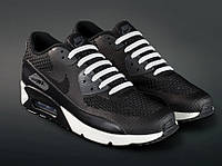 Силиконовые шнурки для обуви, 16 шт (Белые)