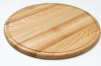 Доска клееная под пиццу 30 см (дуб,ясень), фото 1