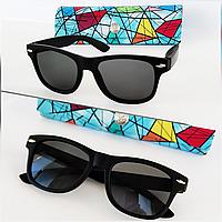 Солнцезащитные детские очки  черные в  матовой оправе