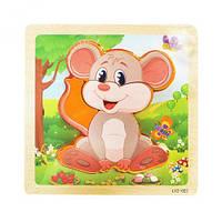 Деревянные пазлы-вкладыши  Мышка