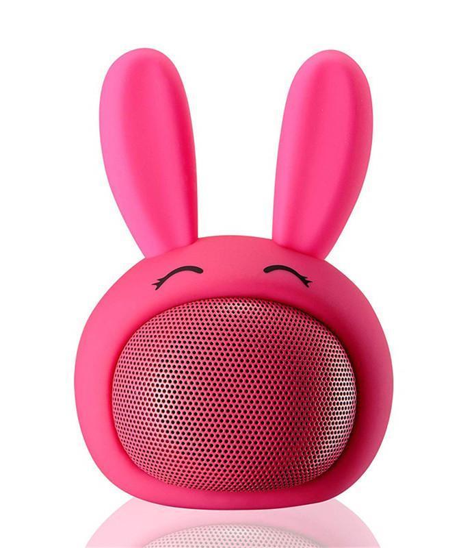 Bluetooth-колонка детская портативная iCutes Зайчик MB-M815, розовая