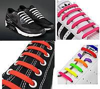 Силиконовые шнурки для обуви (16 шт.) Антишнурки для кросовок кедов