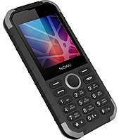 Кнопочный телефон водонепроницаемый с хорошей батареей и камерой на 2 симки Nomi i285 X-Treme Black-Grey