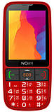 """Кнопочный телефон бабушкофон с большим экраном и камерой Nomi i281+ Red 2,8"""" АКБ 1400 мА*ч, фото 3"""