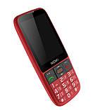 """Кнопочный телефон бабушкофон с большим экраном и камерой Nomi i281+ Red 2,8"""" АКБ 1400 мА*ч, фото 6"""