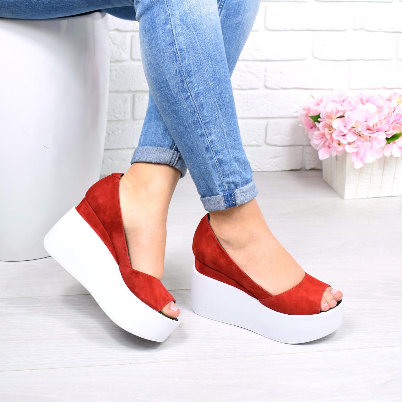 Туфли женские Lessa красные 4351, размер 38 балетки женские