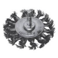 Щетка дисковая S&R, стальная плетенная проволока 70