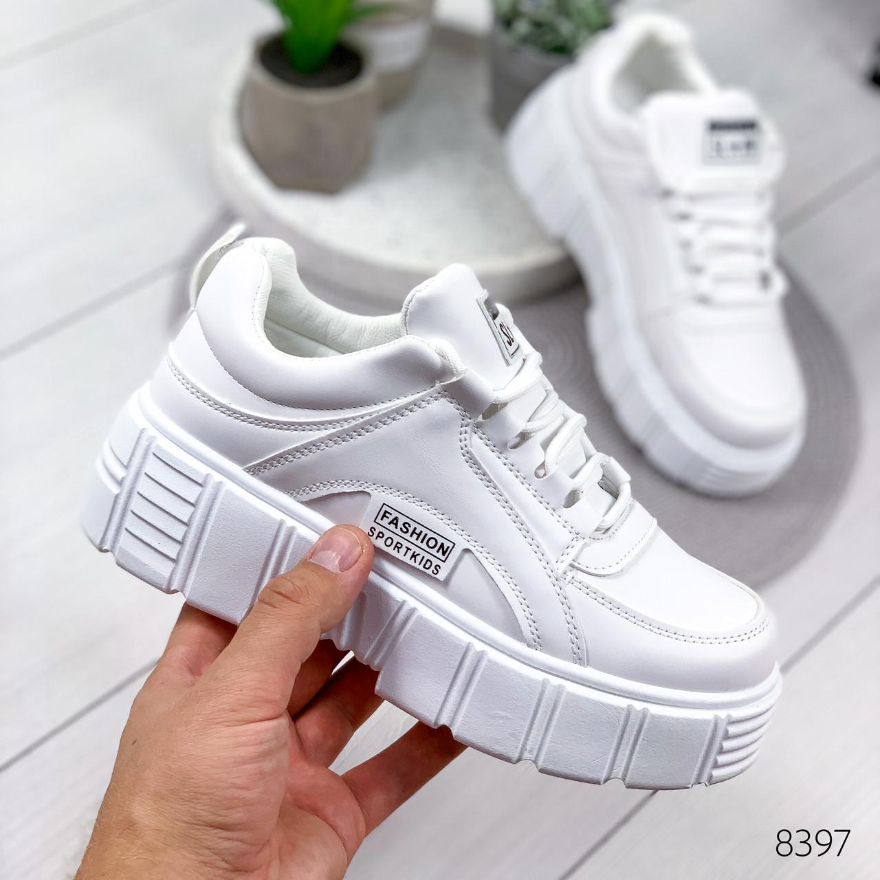 Кроссовки женские Lea белые 8397