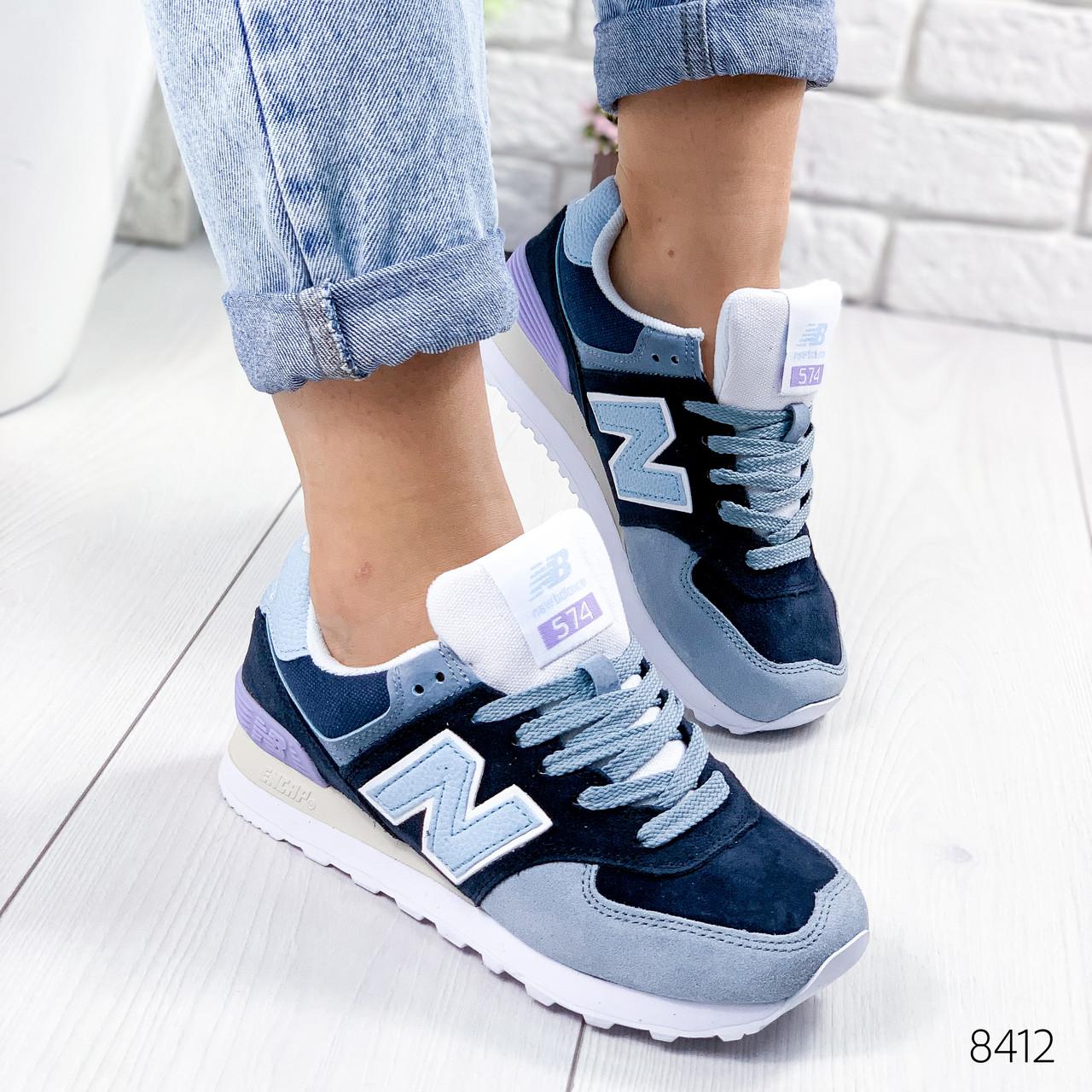 Кроссовки женские New Balance синий + голубой 8412