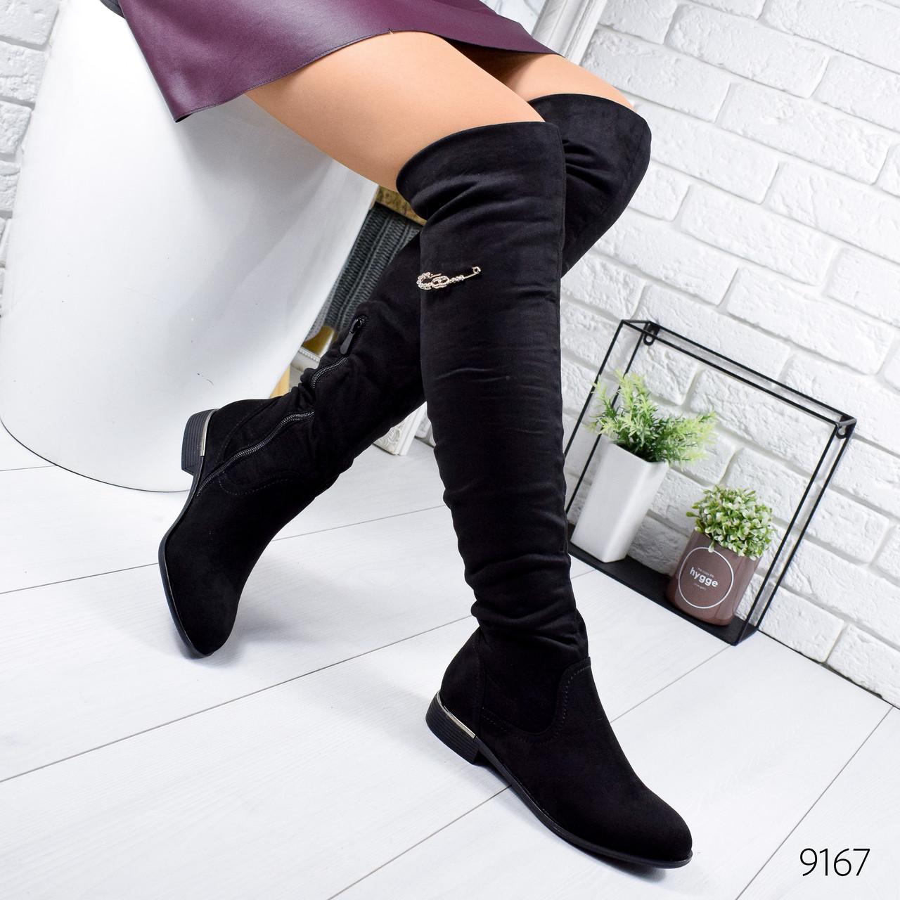 Сапоги женские ботфорты Sayl черные 9167