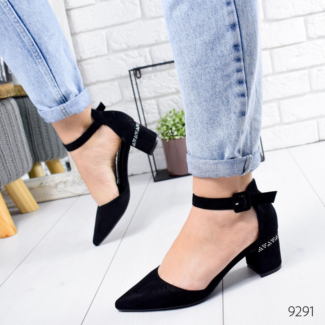 Туфли женские Yuna черные 9291