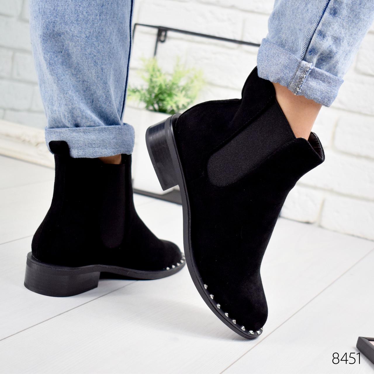 Ботинки женские Nicole черные 8451