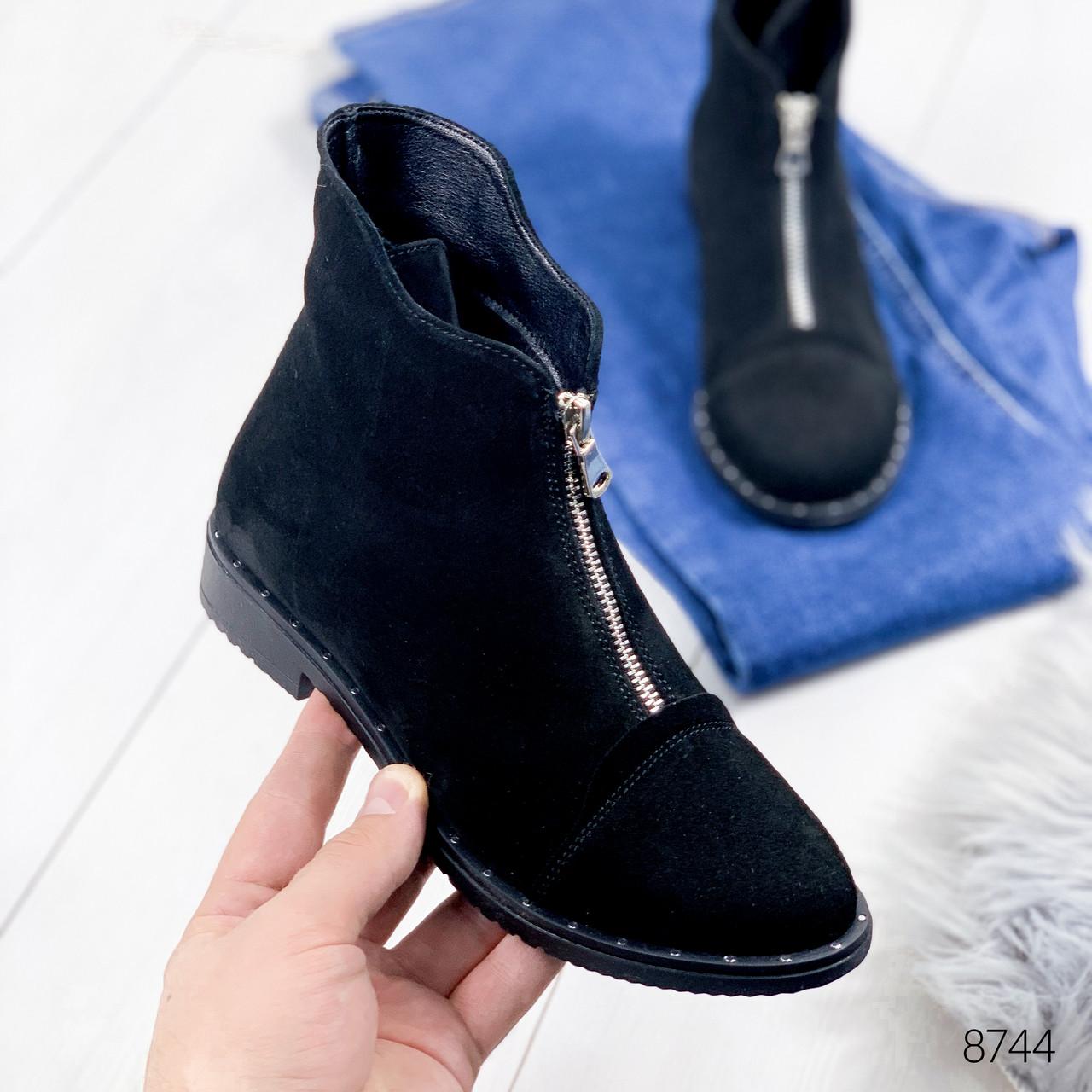 Ботинки женски Amy черный 8744