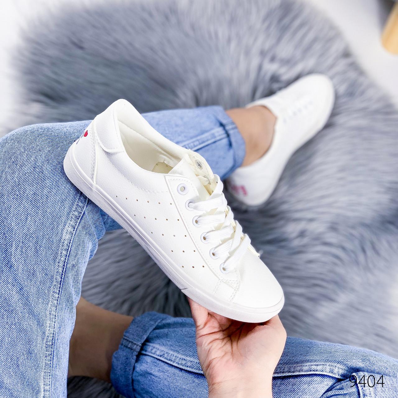 Кеды женские Cat белые 9404