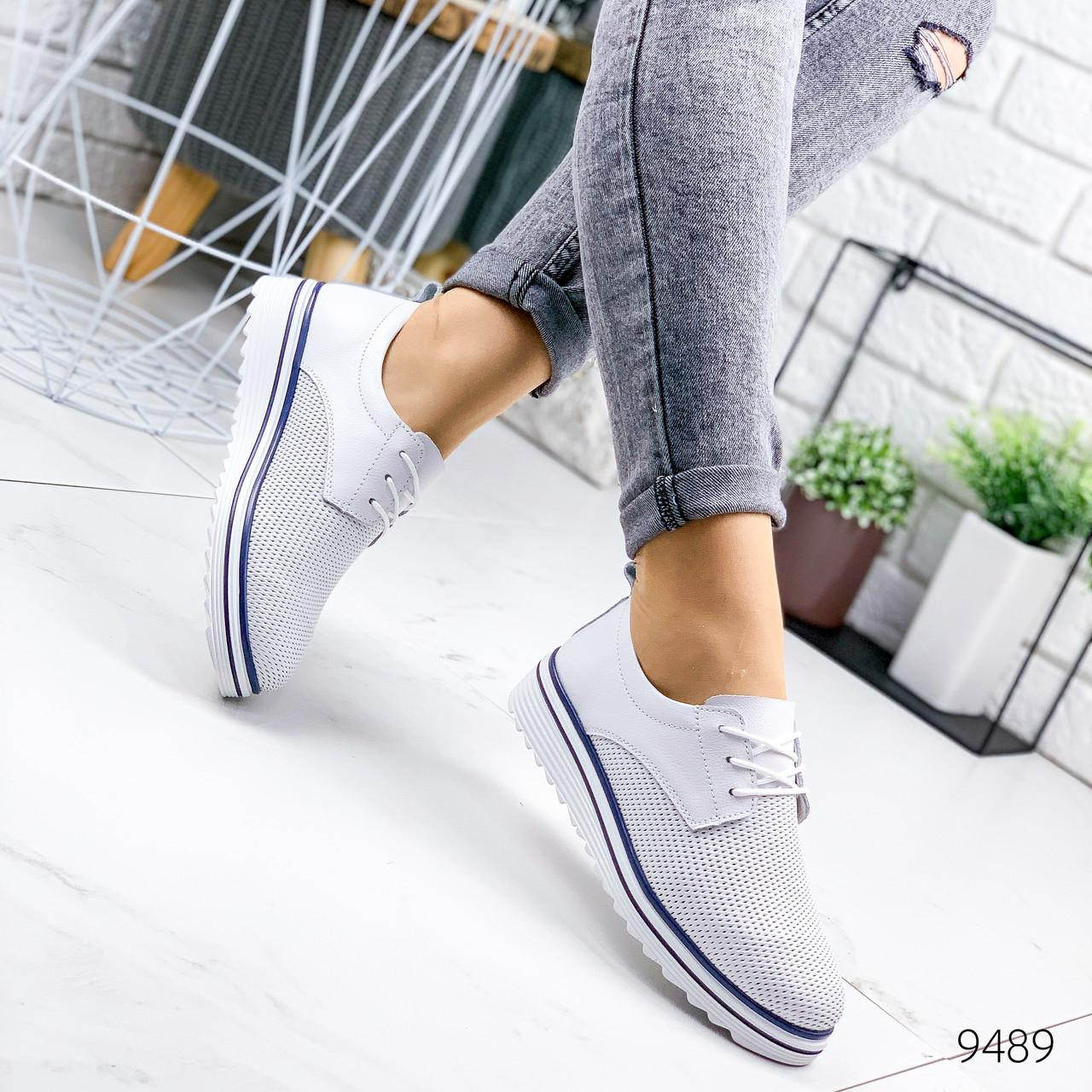 Туфли женские Genny белые 9489