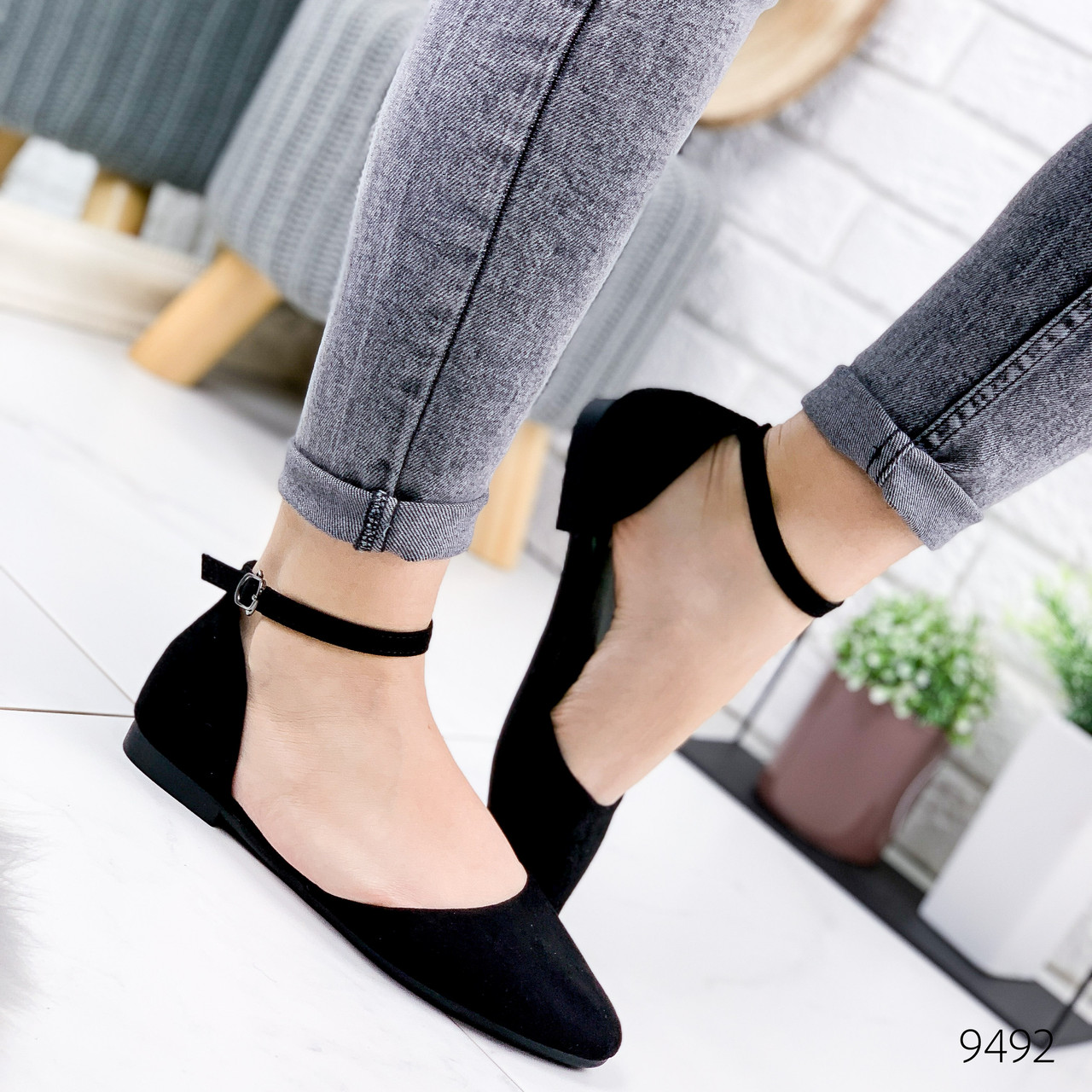 Туфли балетки женские Vella черные 9492