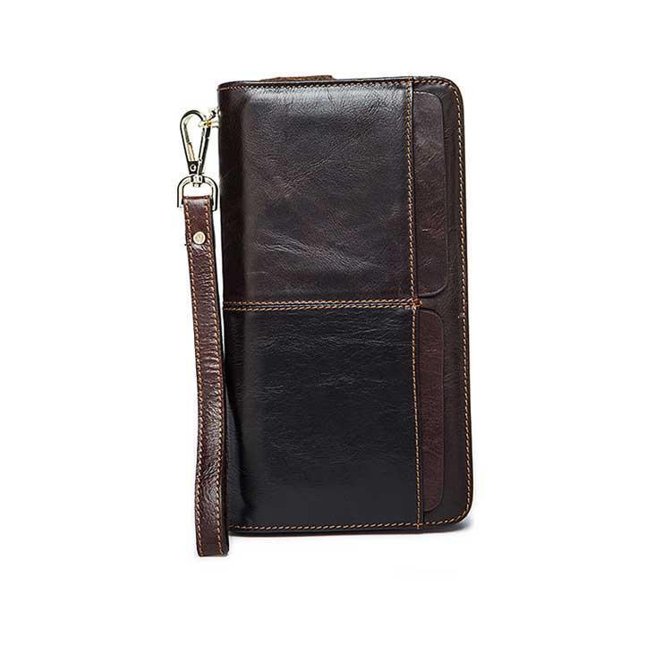 Чоловіче шкіряне портмоне Marrant коричневого кольору