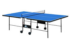 Теннисный стол складной GSI-sport для помещений Athletiс Strong (синий)