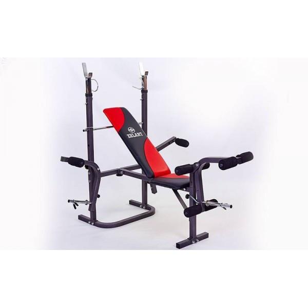 Скамья атлетическая (для жима) (металл,PVC,р-р 154x126x64см,вес польз. до 100кг) SJ-4