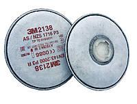 Сменный фильтр  для респиратора и полнолицевых масок 3M 2138 P3  (2шт.)