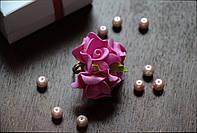 Колечко цветочное розовое из фоамирана