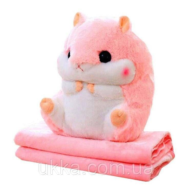 Іграшка плед Хом'як рожевий
