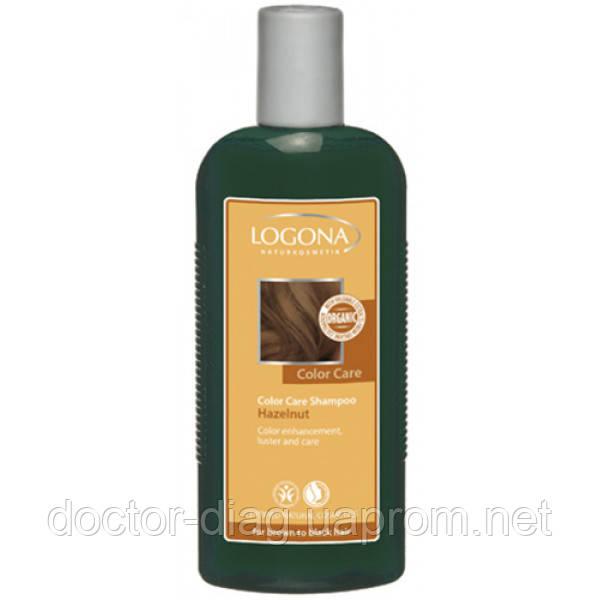 Logona Logona БИО-Шампунь для окрашенных темно-коричневых волос Орех (250 мл)