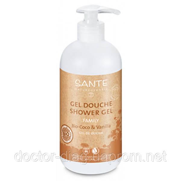 Sante Sante БИО-Гель для душа Кокос и Ваниль, для всей семьи (950 мл)
