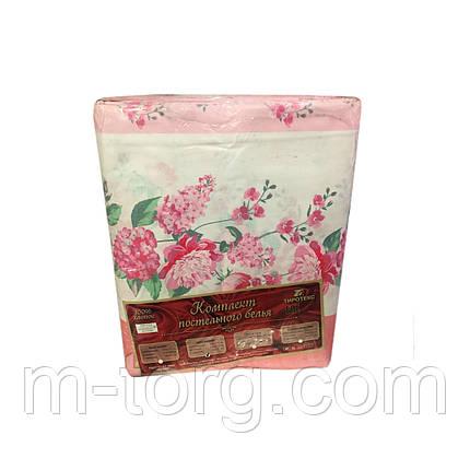 """""""Розовый"""" Комплект постельного белья евро размер 200*215 см 100% хлопок Tirotex Тирасполь, фото 2"""