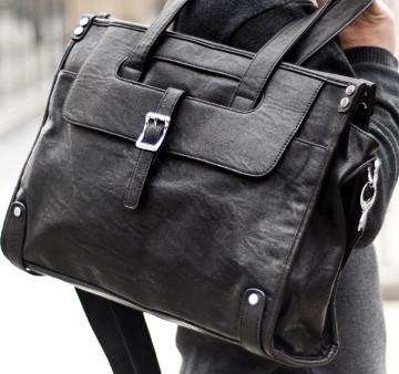 Мужская кожаная сумка. Модель 61346