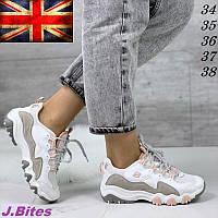 Кроссовки подростковые кожаные, бренд J.Bites (Великобритания) 37/38 размеры