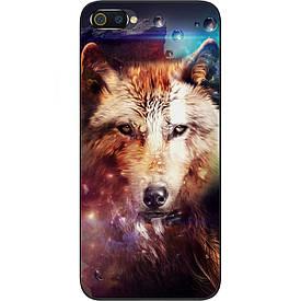 Чехол силиконовый с картинкой для Realme C2 Космический волк