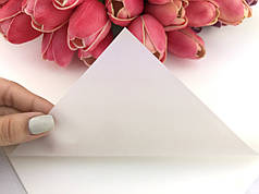 Калька для упаковки цветов матовая непрозрачная Белая 58*58 см, 20 листов