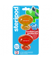 Steripod Антибактериальный чехол для зубной щетки, мандариновая мечта + вулкановый красный (в упаковке 2 шт.)