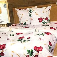 """""""Розы"""" Комплект постельного белья евро размер 200*215 см 100% хлопок Tirotex Тирасполь"""