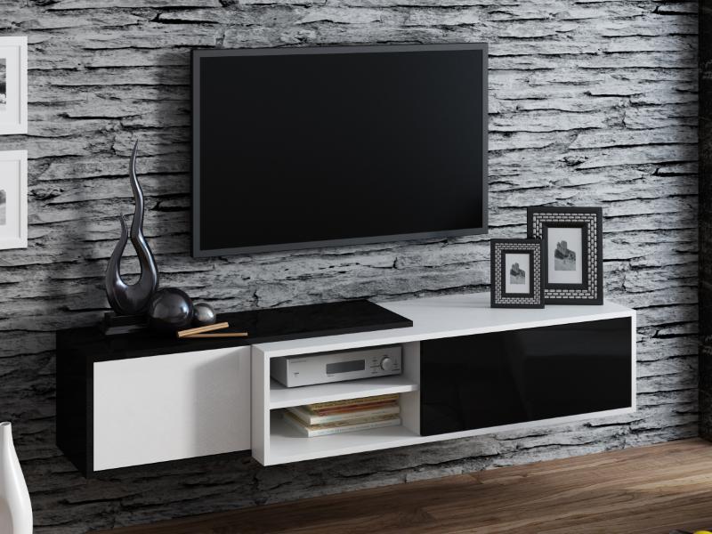 ТВ тумба Sigma 1 180 белый/черный (CAMA)