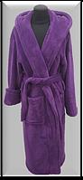 Халат махровый женский длинный Welsoft (TM Zeron), фиолетовый Турция