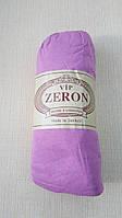 Простынь на резинке трикотажная 180*200 сиреневая  (TM Zeron), Турция