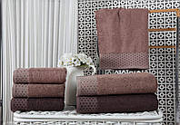 Полотенца бамбуковые 50*90 (3шт) 550г/м2 (TM Zeron)  Bamboo Puanli Desen, Турция