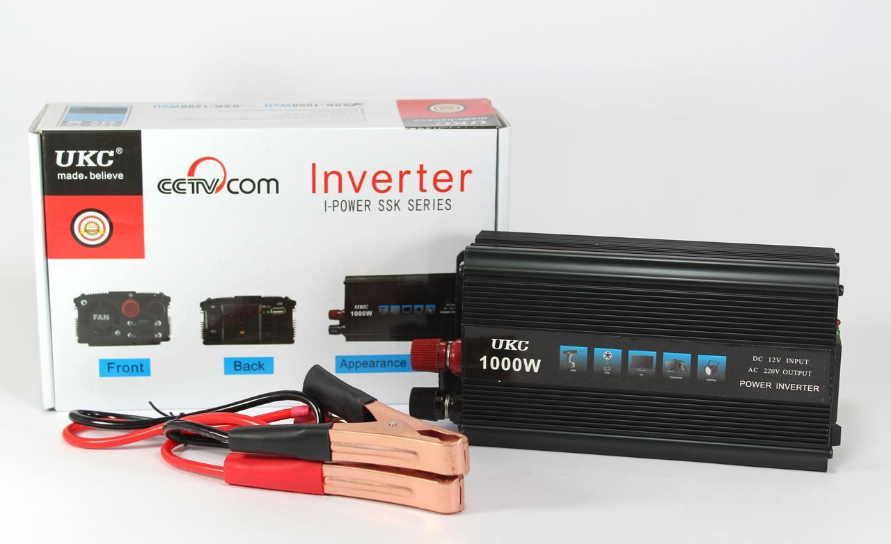 Автомобільний перетворювач AC/DC 1000W 12V SSK